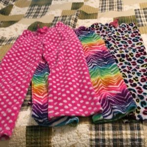 Girls size 7-8 bundle of 3-pairs pajama pants